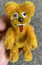 Antique Schuco Janus Mohair Two Faced Yes/No Collectable Teddy Bear 4� C1954