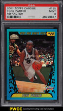 2001 Topps Chrome Refractor Tony Parker ROOKIE RC #155 PSA 9 MINT (PWCC)