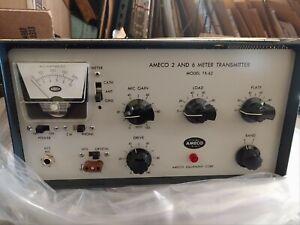 Vintage Ameco TX-62 2 & 6 Meter Ham Radio Transmitter + original shipping box