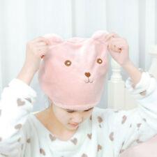 Cute Bear Shower Cap Hair Wrapped Towels Minifiber Bath Hats Dry Hair Cap ME