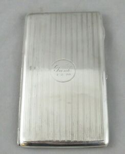 Antique Birmingham England Large Sterling Silver 214g Cigarette Case