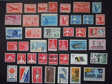 1946-1973 #C32/C86 Nice Airmail Collection 42 Stamp Lot All MNH OG F/VF