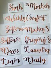 Personalised Mrs Hinch /Zoflora/Lenor Vinyl Stickers Baskets Bottles