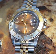 .Vintage 1979 Rolex 16753 GMT Master Watch 6.2m - RARE Tropical Nipple Dial