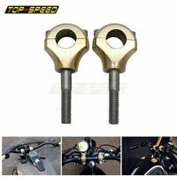 """Brass Motorcycle Universal 1"""" 25mm Handlebar Riser Mount Clamp For Harley Bobber"""