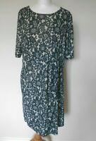 BILLIE & BLOSSOM DOROTHY PERKINS Ladies Dress Size 18 Black Cream Floral lacy