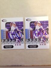 ANDREW MILLER  2006 SIGNED AUTOGRAPHED BASEBALL CARD SHOWCASE PROSPECTS INDIANS
