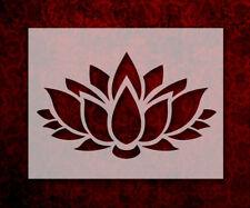 """Lotus Flower 8.5"""" x 11"""" Stencil FAST FREE SHIPPING (558)"""
