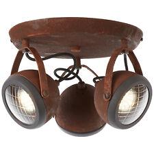 Decken Industrie Leuchte Lampe 3er Spot Strahler Rondell RIDER rostfarbend NEU