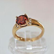 Wunderschöner DamenRing Gold 14K GP (585) Rubin Granat rot Gr. 60 Ø 19,1 mm