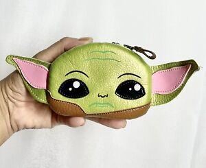 "Baby Yoda Coin Purse Monedero Baby Yoda Handmade 4"" X 3"" (8"" From Ear To Ear)"