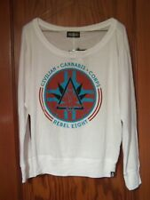 REBEL8 Eight LONG SLEEVE T-SHIRT WOMEN'S SURF SKATE CANNABIS MARIJUANA CORPS NWT