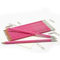 12 Pink HB Pencils Personalised with Name High Quality Printed/Embossed Pencils
