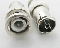 1pc BNC Male Plug to Quick TV PAL Female Jack Adapter Connector Nickel Plated