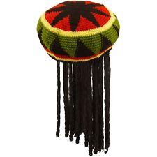 ADULT JAMAICAN RASTA HAT BOB MARLEY KNITTED CAP WIG DREAD LOCKS CARIBBEAN FANCY