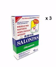 Salonpas Hisamitsu Pain Relieving Patch for Neck Shoulder Backache 120 patches