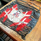 """""""Broderers"""" Silk Embroidered Tapestry Coat of Arms 19th c. DENMARK heraldry"""