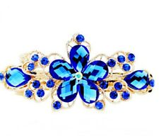 Pequeño Oro Azul Joyas Pasador de cabello clip