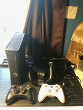 Microsoft Xbox 360 S 4Gb Black Console with 3 controllers and games