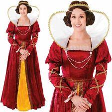 Reine Elizabeth Déguisement Tudor Médiéval Femmes Costume Déguisement