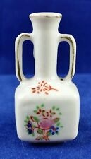 Vintage Porcelain Bud Vase Miniature Pink Red Blue Flowers Marked Japan