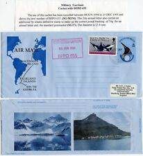 ANTARCTIC MILITARY GARRISON SOUTH GEORGIA BFPO 655 on STATIONERY AIR LETTER 1994