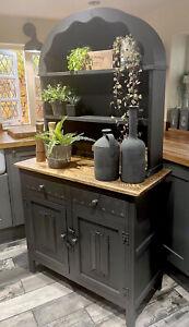 Hand Painted Oak Vintage Dresser In Annie Sloan Graphite