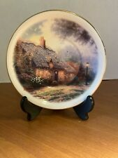 "Thomas Kinkade Decorative 6"" Saucer Teleflora Gift ""Moonlight Cottage"""