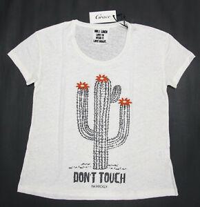 Grace T-shirt Off White mit Kaktus-Print Gr. M, XL UVP 99,00 €
