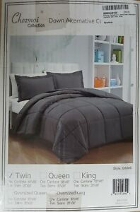 Chezmoi Collection 2-Piece Down Alternative Comforter Set Twin Gray