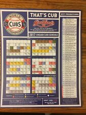 Chicago Cubs 2017 Magnet Schedule