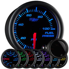 GlowShift Tinted 7 Color Series 100 PSI Fuel Pressure Gauge GS-T711