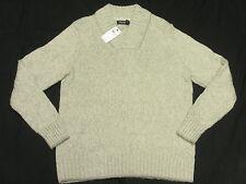 $118 NWT NEW Mens Nautica High Twist Shawl Neck Cotton Acrylic Sweater Sz M N261