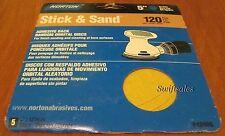 "Norton 48906 - Stick & Sand 5"" Adhesive Back Sanding Discs - 120 Grit 5-Pack"