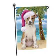 Summertime Christmas American Staffordshire Terrier Dog Garden Flag Gflg54590