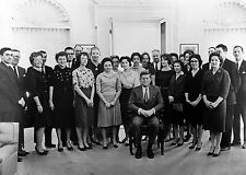 President John F. Kennedy and His Staff in the Oval Office-White House - 1961