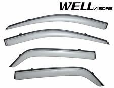For 04-10 Kia Sportage WellVisors Side Window Deflectors Visors W/ Black Trim