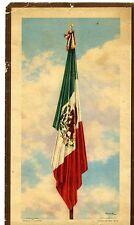 Homenaje A La Bandera De J. Bribiesca 1943 Cromolitografía José Bribiesca Rare!!