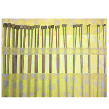 Single Pointed Carbonized Bamboo Knitting Needles 36pcs in 1 Set