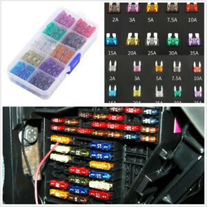 110 Pcs Assorted Car Motorcycles Blade Fuse Kits 2 3 5 7.5 10 15 20 25 30 35 AMP