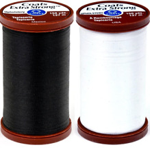 Black & White Bundle of Coats & Clark Extra Strong Upholstery Thread - 150 Yards