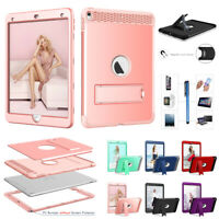 "Defender Rubber Shockproof Hard Stand Case Cover For iPad 5th/6th 9.7"" Air 10.5"""