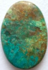 *Big Untreated Natural African (Congo) Turquoise Oval Cabochon Gemstone, 61Cts