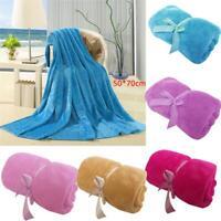 Solid Color Flannel Ultra Soft Plush Blanket Velvet Warm Fleece Bed Sofa Baby