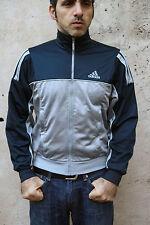 Adidas Boy's Dark Blue Grey Vintage Tracksuit Top Jacket  Shiny 14 yrs uk32/34