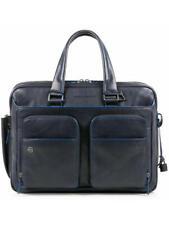 CARTELLA Piquadro black square borsa espandibile porta pc e porta ip BLU CA2765B
