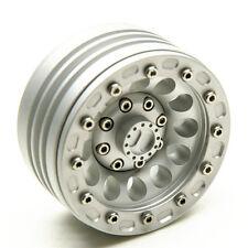 "1x Alloy 1.9"" Beadlock Wheels Rims For 1/10 RC Crawler SCX10 CC01 Matte Silver"