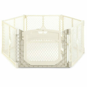 Toddleroo by North States Superyard Ultimate Indoor Outdoor 6 Panel Ivory