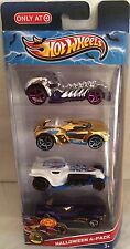 HOT WHEELS 2013 4 PACK HALLOWEEN RACE ROD CARS NEW IN BOX