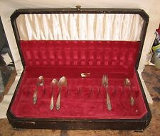 31 pc Rogers XII Overlaid IS Silverware Set & Storage Box